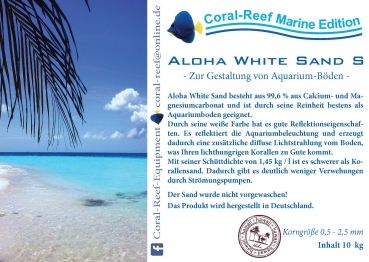 Aloha White Sand S 0,5 - 2,5 mm 10 kg/Sack
