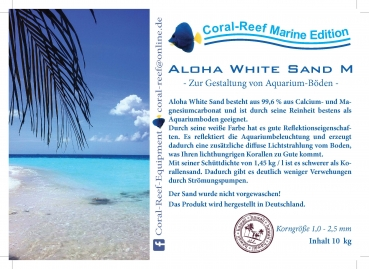 Aloha White Sand M 1,0 - 2,5 mm 10 kg/Sack