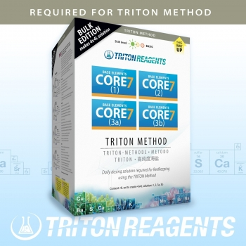 Triton Core 7 Base Elements Bulk Edition zur Anwendung für die Triton Methode 4x 4 Liter Kit
