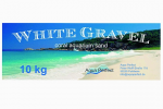 White Gravel, Aquariumsand 25 kg, Körnung 0,5-2mm, Sack